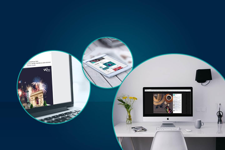 Wiko mobile Graphic design