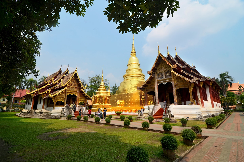 Temple Wat Phra Singh, Chiang Mai - Thailande