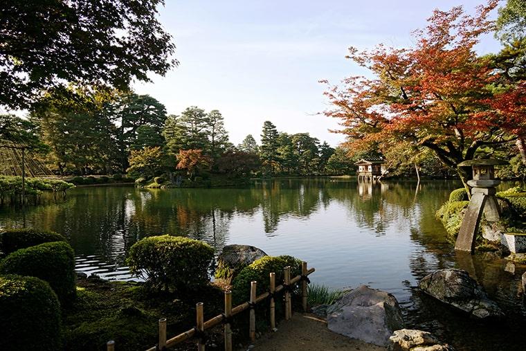 Le jardin Kenrokuen à Kanazawa au Japon