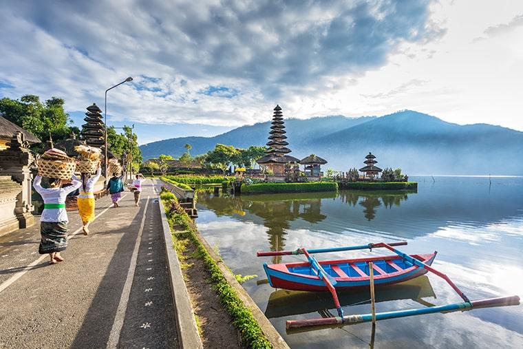Le temple Bedugul à Bali